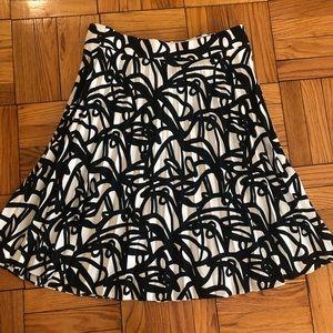 J. Crew black and white silk skirt size 14